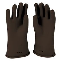 Cementex IG0-11-9B Class 0 Insulating Gloves, SZ 9, Black, Rubber