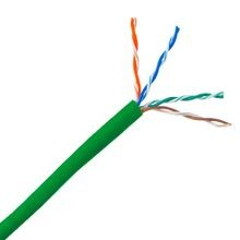 GenSPEED, CAT6 Cable, 24 AWG, Solid, Copper, 4 Pairs, Green, PVC, UTP, Plenum