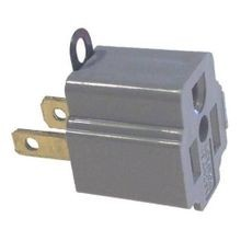 Leviton® 274 U-Ground Adapter, 125 VAC, 15 A