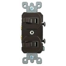 Leviton® 5224-2 Traditional Duplex Combination Switch With Receptacle, 15 A, 120/277 VAC, 1/2 hp at 120 VAC, 1 Pole