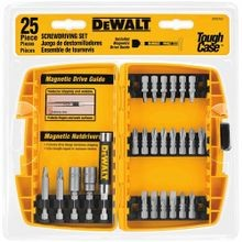 DeWALT® Guaranteed Tough® DW2167 Screwdriver Bit Set, 25 Pieces, For Use With Drills and Power Screwdrivers, Steel