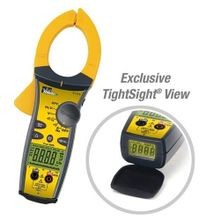 IDEAL® TightSight 61-765 Clamp Meter, 750 VAC/999.9VDC, 660A, 9999 Ohm, 20 - 400 Hz, 1.42 in Jaw, LCD Display