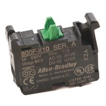 Allen-Bradley, 800F-X10, 22.5mm PB No Latch, Screw Contact Block, 1 N.O.