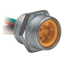 Allen-Bradley, 888R-M3AC1-3F, Receptacle, AC Micro (Dual Key), Male, Straight, 3-Pin, 22AWG, 3 feet (0.91 meters)