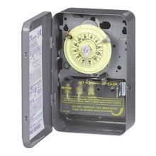 Intermatic® T103 Electromechanical Mechanical Timer, 24 hr Time Setting, 125 VAC, 5 hp, 2NO DPST Contact Form, 2 Poles