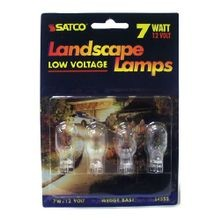SATCO® S4552 Landscape Lamp, 7 W, Incandescent Lamp, Mini Wedge W2.1x9.5d Lamp Base, T6 Shape
