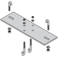 B-Line SB213312FB Upright Top Plate Runway Support Kit, For Use With Cable Runway, 12-7/8 in L x 4 in W, Steel