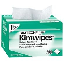 Kimwipes, Kim Wipe, Lint Free, White, Virgin Wood Fiber, 8.75 Inch, 4.5 Inch, 280/Box