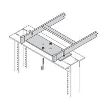 B-Line SB22083FB Network Equipment Rack Support Kit, For Use With 12 in Runway, Structural Steel, Flat Black
