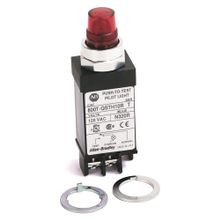 Allen-Bradley, 800T-QSTH13A, 800T Small Pilot Light, Amber, Full Voltage, Push-to-Test, 130V AC/DC