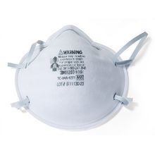 3M™ 051131-07023 Cup Disposable Particulate Respirator, Standard, N95, 95%, Dual Elastic, White