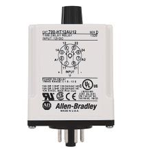 Allen-Bradley, 700-HT General Purpose Tube Base Timing Relay, On Delay Timer, 0.1 to 10 Seconds, DPDT, 120V AC/DC