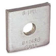 B-Line B201ZN Square Washer, 3/8 in, 7/16 in ID, Steel