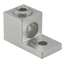 ILSCO® TA Dual Rated Mechanical Terminal Lug, 2/0 to 14 AWG Aluminum/Copper Conductor, 1/4 in Stud, 1 Bolt Hole