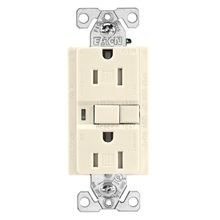 Eaton Wiring Devices TRAFCI15V Duplex Tamper Resistant AFCI Receptacle, 125 VAC, 15 A, 2 Poles, 3 Wires, Ivory