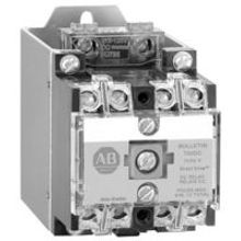 Allen-Bradley, 700DC-P400Z1, NEMA Heavy-Duty Industrial Relay, 4 N.O. Contacts, 10 Amp AC Contact Rating, 115-125V DC, Open Type Relay Rail Mount