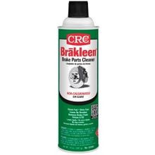 CRC® Brakleen® 05088 Non-Chlorinated Brake Parts Cleaner, 20 oz Aerosol Can, Liquid, Clear, Solvent