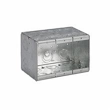 Steel City® 3-MB Masonry Box, Steel, 71 cu-in, 3 Gangs, 16 Knockouts
