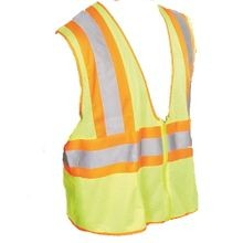 Greenlee, Safety Vest, Class 2, Yellow, Orange, Gray, 2XL, 3XL, Silver Fabric, 1/Case