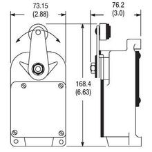 Allen-Bradley, 801-ASC21, 801 General Purpose Limit Switch, Roller Lever Type, Snap Action, Spring Return, Type 2 Housing Style, Arrangement C