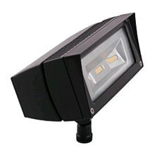 RAB FFLED18 Constant Current HID Flood Light Fixture, LED Lamp, 22 W Fixture, 120/277 VAC, Bronze Housing