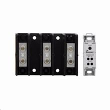 Bussmann® Magnum® 16021-3 Barrier Terminal Power Distribution Block, 600 VAC/VDC, 175 A, 3 Poles, 14 to 2/0 AWG, 8 to 2/0 AWG Wire, Thermoplastic