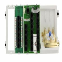 Leviton® 47606-AHT Telephone and Video Panel, 19 Ports, Cat 5e, ABS