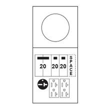 Midwest® M038C010 Ring Metered Power Outlet Panel, 120/240 VAC, 100 A, 1 Phase, NEMA 3R Enclosure