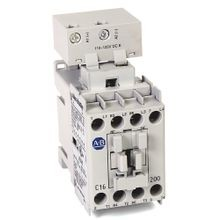 Allen-Bradley, 100-C16ED200, 100-C IEC Contactor, 110-125V DC Electronic Coil, Screw Terminals, Line Side, 16A, 2 N.O.  2 N.C. Main Contact Configuration