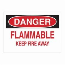 Brady® 23216 Fire Sign, 10 in H x 14 in W, Black/Red on White, Surface Mount, B-401 Plastic