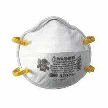 3M™ 8210 Disposable Particulate Respirator, Standard, N95, 95%, Stapled, White