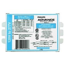 Philips Advance ICF2S42M2LDK Electronic Compact Fluorescent Ballast, CFTR42W/GX24Q Lamp, 42 W, 120 to 277 VAC, 0.97