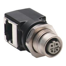 Allen-Bradley, 1585A-DD4JD, Female M12 Receptacle to RJ45 Female Adaptor Right Angle