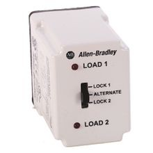 Allen-Bradley, 700-HTA Alternating Relay, DPDT Cross-Wired (3 control switch), 120V AC, w selector switch.