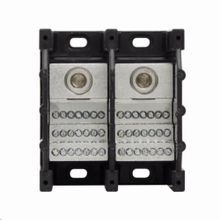 Bussmann® Magnum® 16372-2 Barrier Terminal Power Distribution Block, 600 VAC/VDC, 310 A, 2 Poles, 6 AWG to 350 kcmil Wire, Thermoplastic