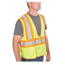 Greenlee® 01761-02M 2-Tone High-Visibility Tradesman Safety Vest, S/M, Mesh Fabric, II
