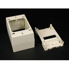 Wiremold® 2348 1-Gang Deep Straight Device Box, 4-3/4 in L x 3 in W x 1-3/4 in H, PVC, Ivory