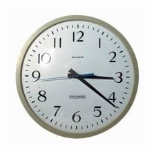 Edwards Signaling™ 1800 Quartz Analog Clock, 0 to 12 hr Time, Round Shape, 1.5 VDC C Alkaline