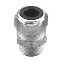 Thomas & Betts 2921 Strain Relief Straight Connector, 1/2 in Trade, 0.31 - 0.56 in Cable Openings, Steel, Zinc Plated