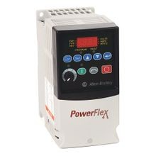 Allen-Bradley, 22A-B4P5N104, PowerFlex4 AC Drive, 240 (208)VAC, 3PH, 4.5 Amps, 0.75 kW, 1 HP, Frame Size A, IP20 (Open), LED Display, Fixed Digital Keypad, No CE Compliant Filter, RS485