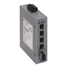 Allen-Bradley, 1783-US4T1F, Stratix 2000 Unmanaged switch, 4 copper 10/100 ports, 1  Multimode 100 meg fiber port