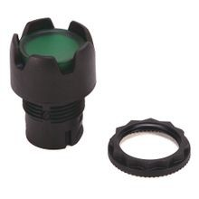 Allen-Bradley, 800FP-LG3, 800F Momentary Push Button -  Plastic, Illuminated, Guarded, Green