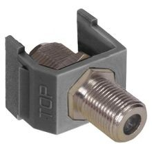 PREMISE WIRING netSELECT® tradeSELECT® NSF70GY Bulkhead Standard F-Connector, Female x Female Connector