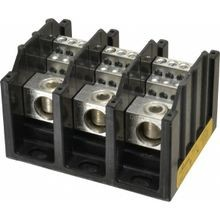 Bussmann®, Power Distribution Block, 3 Pole, 310 Ampere, 600 VAC, 350 kcmil to 6 AWG, Black