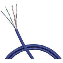 Belden, CAT 5E Cable, 24 AWG, Solid, Cat5e, Copper, 4-Pairs, Blue, PVC, Unshielded, Non-Plenum