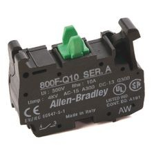 Allen-Bradley, 800F-Q10, 22.5mm PB No Latch, Spring-Clamp Contact Block, 1 N.O.