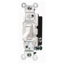 Leviton® 1453-2W 3-Way Toggle Switch, 120 VAC, 15 A, 1/2 hp