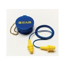 E-A-R™ UltraFit™ Corded Reusable Ear Plug, Multi-Flange, 25 dB, Yellow Plug
