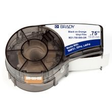 Brady® M21-750-595-OR Label Marker Cartridge, 21 ft L x 3/4 in W, For Use With BMP21, ID PAL and LAB PAL label Printers