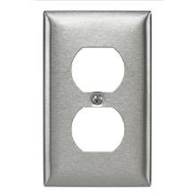 Bryant Electric SS8 Standard Wallplate, 1 Gang, 4.5 in H x 2.87 in W, 302/304 Stainless Steel